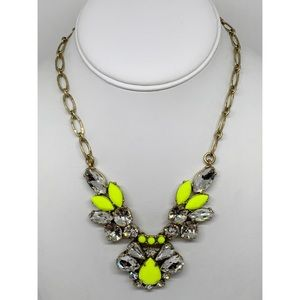 J. Crew Yellow & Crystal Necklace